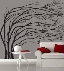 Modern Black Blowing Tree Wall Decal Silhouette The Best Wall Decals Modern Art Jpg 1020 1138 Modern Wall Decals Childrens Wall Decals Wall Vinyl Decor