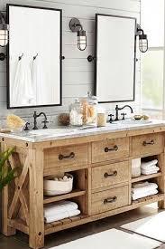 rustic master bathroom with european