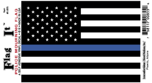 Police Mourning Flag Sticker Flag Decal Flag Police Flag
