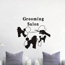 Grooming Salon Wall Window Decals For Pets Shop Dogs Silhouette Wall Stickers Art Wallpaper Removable Wallpaper Home Decal Stickers Home Decals From Joystickers 11 75 Dhgate Com