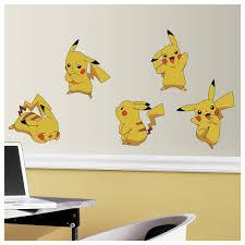 Room Mates Pokemon Pikachu Peel And Stick Wall Decal Reviews Wayfair