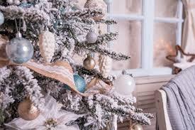 lighted tree presents