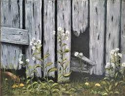 Old Fence Painting By Larisa Korobkova Saatchi Art