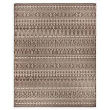 flat weave area rug in espresso