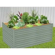 hexies raised garden bed rectangle