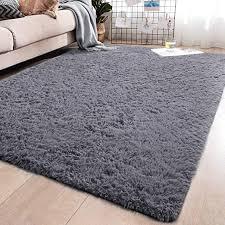 Amazon Com Yj Gwl Soft Shaggy Area Rugs For Bedroom Fluffy Living Room Rugs Anti Skid Nursery Girls Carpets Kids Home Decor Rugs 4 X 5 3 Feet Grey Home Kitchen