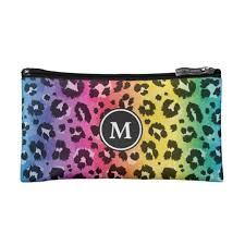 rainbow leopard print pattern