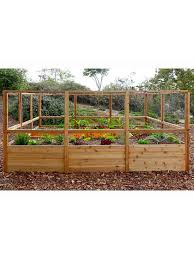 Raised Garden Bed 8 X8 Or 8 X12 With Deer Fence Kit Gardener S Supply