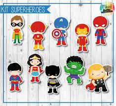 Moor Graficaparaeventos Kit Imprimible Superheroes Candy Bar