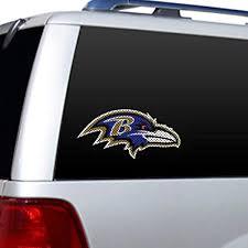 Nfl Baltimore Ravens Diecut Window Film Window Decal 10 X 10in Amazon In Car Motorbike