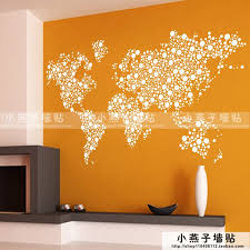 World Map Wall Stickers Large New Design Coffee Shop Pattern Wall Decal Vinyl Poster Sticker World Map Decals Decal Paper For Glass Decal Vinyldecal Paper Aliexpress