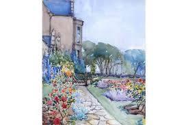 ADA HILL WALKER (1879 - 1955)Rose Garden, Dunbar Manse, 1936Signed ...