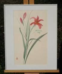 Margie Adele Palmerton Newman Signed Watercolor, Titled Garden Blossom. |  eBay
