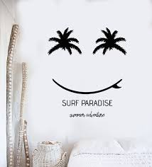 Vinyl Wall Decal Surfing Time Surf Paradise Beach Style Summer Sticker Wallstickers4you
