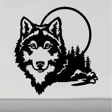 Rv Camper Decals Wolf Wolves Moon 5th Wheel Motor Home Replacement Dec