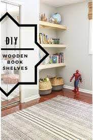 Diy Wooden Book Shelves For A Nook Or Alcove Floating Natural Wood Shelving Great Idea For Toy Storag Kids Rooms Diy Alcove Shelving Kids Room Storage Closet
