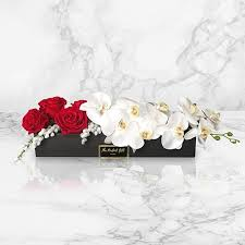 orchids and roses luxury flower gifts
