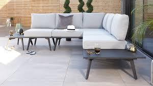 garden dining set with corner bench