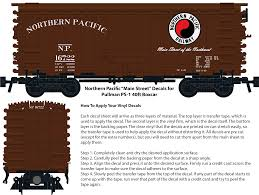 Northern Pacific Main Street Decals For The Pullman Ps 1 Boxcar Brick Model Railroader