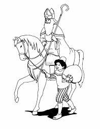 Kleuren Nu Sinterklaas Met Paard En Piet Kleurplaten