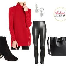 how to wear leather leggings at 40 50