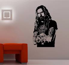 Rob Zombie Wall Sticker White Zombie Singer Decal Heavy Metal Music Decor Mural American Musician Poster Wall Sticker Wall Sticker Whitestickers White Aliexpress