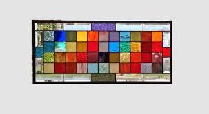 rainbow stained glass window panel