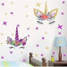Baby Nursery Happy Unicorn Decal Unicorn Wall Decals Fairytale Wall Decal Girls Bedroom Home Decor 2pcs And Stars Baby Decor Biud10 Org