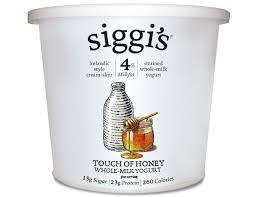 honey icelandic style strained yogurt