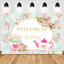 ترحيب إلى الشاي حزب خلفية الوردي روز الزهور غلاية كوب الصورة خلفية