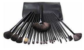hollywood makeup brush set black