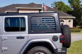 Jeep Wrangler Jk Usa Flag Side Window Decals The Pixel Hut