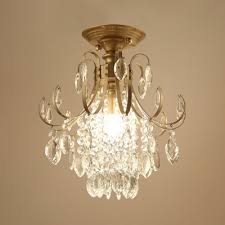 single bulb small chandelier with clear