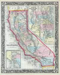 Map Of California 1860 Peel Stick Removable Wall Decal Contemporary Wall Decals By Art Megamart