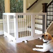 4 Panel Freestanding Tall Wood Pet Gate Pet Stop Store