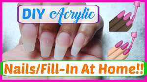 diy acrylic nails fill in at home