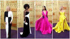 Bold color combinations, bare shoulders rule 2019 Emmy Awards - Los Angeles  Times