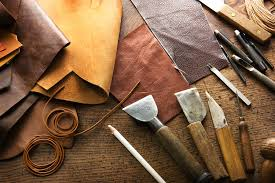 leather craft or leather working