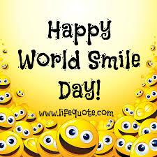 happy world smile day life quote
