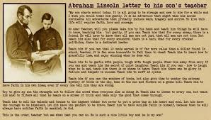 a letter from abraham lincoln to his son s teacher blog ebe