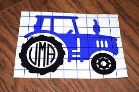 Monogram Tractor Vinyl Decal Farmer Decal Farming Decal Agriculture Decal Farm Machinery Decal Boys Tumbler Decal Tractor Sticker Vinyl Decals Tumbler Decal Vinyl Colors