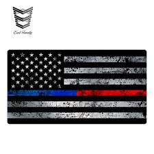 Earlfamily 13cm X 7cm Thin Blue Red Line Flag Sticker Grunge Police Usa Vinyl Decal Lives Matter Car Stickers Car Stickers Aliexpress