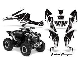 Amr Racing Decal Graphics Kit Quad Wrap Frenzy Yellow Can Am Renegade 500 X R 800x R 1000 Cam Renegade 500 800 1000 Fz Y