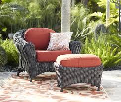 Martha Stewart Living Lake Adela Weathered Gray Patio Lounge Chair and  Ottoman Set with Surf C… | Patio lounge chairs, Outdoor furniture sets,  Chair and ottoman set