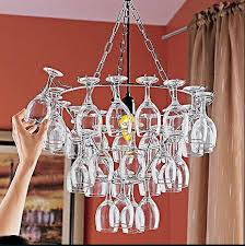 wine glass chandelier 11 creative