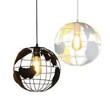 globe pendant lights black white