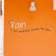 Pain Is Just Weakness Leaving The Body Quote Wall Decals Stickers Graphics