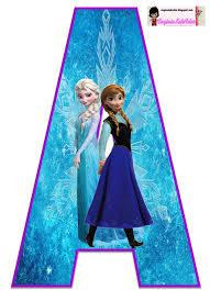 Frozen Bello Alfabeto Gratis De Elsa Y Ana Oh My Alfabetos