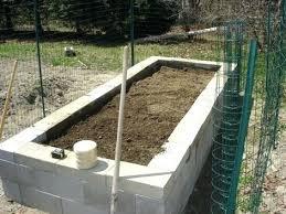cinder block raised garden bed plans