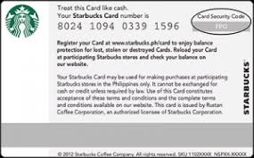starbucks gift card security code